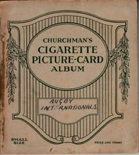 Churchman's Cigarette Picture-Card Album: Rugby Internations 1935 Full Set of 50