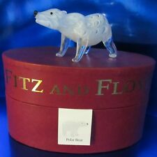2006 Fitz and Floyd Polar Bear Figurine Glass Menagerie 43/215 in Box (1Zdj-1)