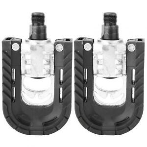 Bike Pedals Bicycle Pedals Toe Clip And Strap Lightweight And Portable Mountain