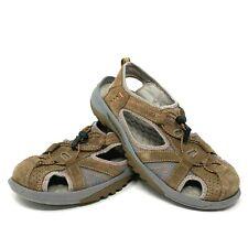 Clarks Privo Women's Size 8 Brown Gray Bungee Hiking Walking Sandals 77710 EUC