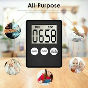 Magnetic Large LCD Digital Kitchen Timer Count-Down Up Clock Cooking Loud Alarm