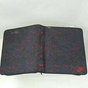 NIKE MEAD Zip Around Print Pattern 3 Ring Binder 1995 Vintage Trapper Keeper