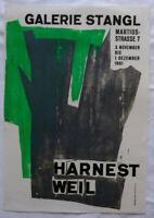 Poster Plakat - Harnest Weil - Galerie Stangl - München 1961 - Holzschnitt
