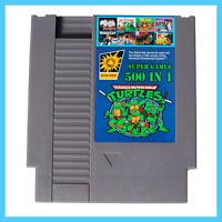 [ 500 in 1 NES Classic Nintendo Super Game Cartridge Contra TMNT Bubble Bobble 2