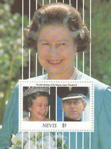 (67748) Nevis MNH Queen 65th Birthday minisheet 1991 unmounted mint