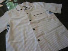 NWT - Mens ROUNDTREE & YORKE  Blue Stripe SHORT Sleeve Pajamas Set (2XB)