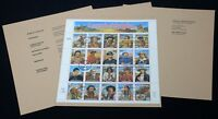 USA #2869 LEGENDS OF THE WEST Pane of 20 Commemorative Stamps First Day of Issue