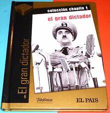 EL GRAN DICTADOR Charles Chaplin DVD+LIBRO - NUEVA