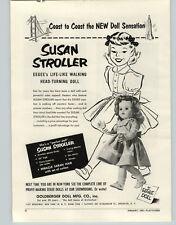 """1953 PAPER AD Goldberger Dolls Susan Stroller Eegee 23"""""""