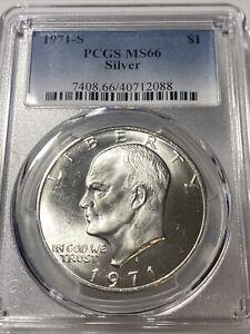 1971 S $1 Silver Ike Eisenhower Dollar PCGS MS66 (KEY DATE)