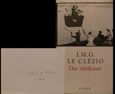 J.M.G. LE CLEZIO Nobel LIVRE BOOK Signed Signée Autograph signature autographe
