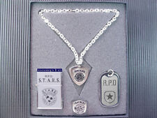 Resident Evil Biohazard RPD STARS Dog Tag Necklace Army Silver Ring Set PG