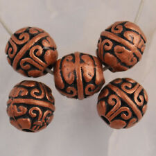 Na2172 20pcs Copper-tone round spacer beads