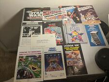 Vintage Lot 13 Atari 2600 Coleco Manuals Booklets Inserts Star Wars Force Demons