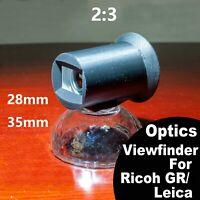 Optics viewfinder 28mm/35mm 2 :3 For Ricoh GR Leica Camera