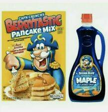 Cap'n Captain Crunch Pancake Mix And Blue Syrup Limited Edition Aunt J