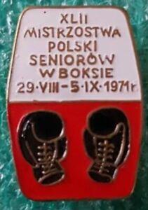XLII POLISH BOXING CHAMPIONSHIPS POLAND 1971 OLD PIN BADGE