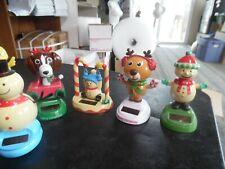 New Listing5 Christmas Solar dancing figures-snowmen- reindeer -dog