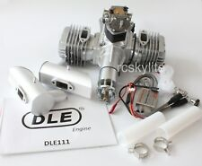DLE111 RC Airplane Petrol Gas Engine Motor for Giant Airplane w/ Mufflers