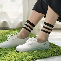 Women's Sexy Cotton Ultrathin Transparent Crystal Lace Elastic Short Socks