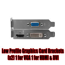 NEW ! Low Profile Graphics Card Brackets x 2 1 for VGA 1 for HDMI & DVI