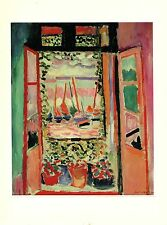 "1973 Vintage MATISSE ""OPEN WINDOW, COLLIOURE LA FENETRE"" COLOR offset Lithograph"