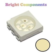 10 x Warm White PLCC-6 LED (SMD SMT 5050) - Ultra Bright - UK - 1st CLASS POST