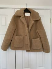 Sold Out Zara Faux Shearling Borge Teddy Coat - Beige - Size M - BLOGGERS FAVE