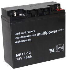 Multipower Blei Akku MP18-12 PB VdS | FG21803 | Powerfit S312/18G5 / 12V / 18 Ah