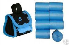612 Blue Dog Pet Poop Bags on rolls& free paw print  dispenser