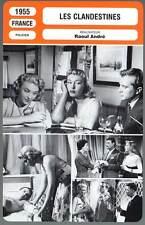 LES CLANDESTINES - Courcel,Lemaire (Fiche Cinéma) 1955 - Vice Dolls