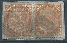 1863-65 REGNO USATO EFFIGIE 10 CENT COPPIA - RR4499