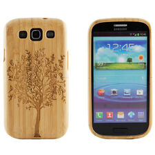 Samsung Galaxy S3 III Genuine Natural Bamboo Wood Engraved Tree Hard Case Cover