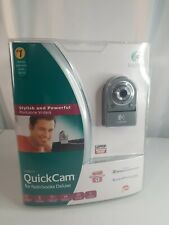 Logitech Quickcam For Notebooks Deluxe Other New  The seal is open on top.