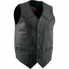 """Mens fit Leather Motorcycle Waiscoat - Large 44"""""""