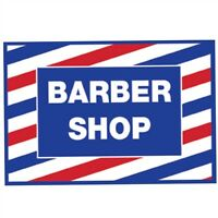 SI-SC-9014 BARBER SALON BEAUTY SCALPMASTER POLE CLING DECAL STICKER DECORATION