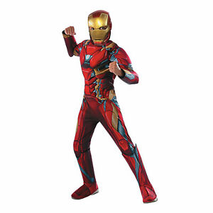 Boy's Deluxe Iron Man Marvel Superhero Muscle Chest Costume SIZE M (Used)