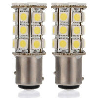 2X White 1157 BAY15D P21/5W 27SMD 5050 Car 12V LED Tail Brake Light Bulbs Lamp