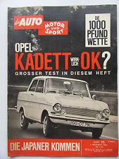 Auto Motor Sport 25/1962, Opel Kadett, Kommen die Japaner