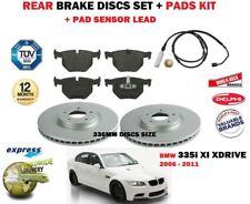 para BMW 335i 2006-2011 DISCOS DE FRENO TRASERO 336mm Set Y KIT + Conjunto
