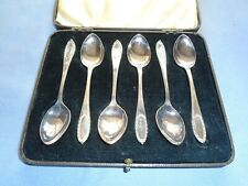 VINTAGE CUTLERY CASED SET OF SILVER PLATED DIXON TEASPOONS COFFEE SPOONS