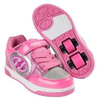 ✅ New Heelys Plus Lighted Childrens Kids Girls HX2 Wheels Skating Shoes Pink ✅