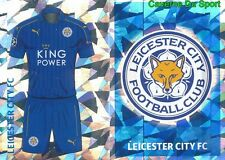 LEI1-2 CLUB LOGO HOME KIT LEICESTER CITY.FC STICKER CHAMPIONS LEAGUE 2017 TOPPS