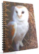 OWL 3D LENTICULAR A6 NOTEBOOK