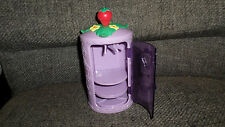 Strawberry Shortcake Purple Mirror Clothes Closet Wardrobe Dollhouse Furniture