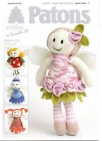 Patons Flower Fairy Doll Knitting Pattern Book 3806- Not the finished toys