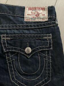 True Religion SKINNY Mens  Jeans W38 L33 Blue SLIM Straight