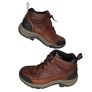 Ariat Ankle Boots Size 6.5 Terrain Hiking Brown Leather ATS Lace Up Western