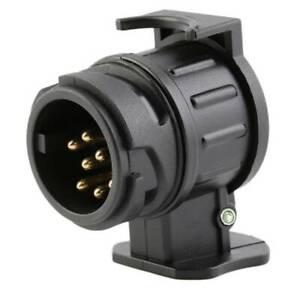 13 to 7 Pin Trailer Truck Electric Converter Adaptor Tow Bar Plug Tool