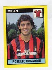 new N.180 DONADONI MILAN FIGURINA VALLARDI IL GRANDE CALCIO 1988//89